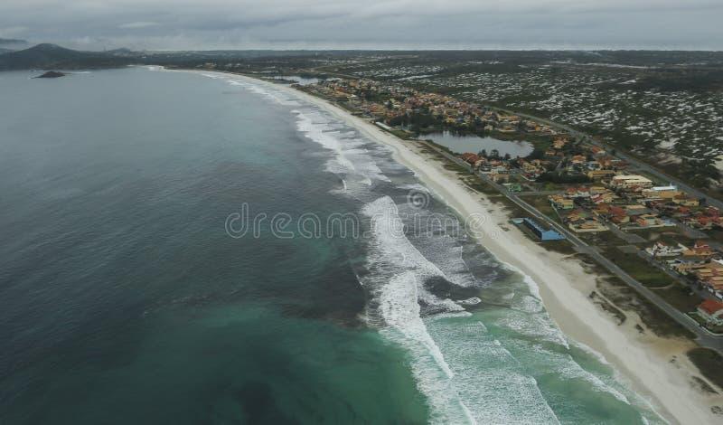Long and wonderful beaches, Recreio dos Bandeirantes beach, Rio de Janeiro Brazil royalty free stock photos