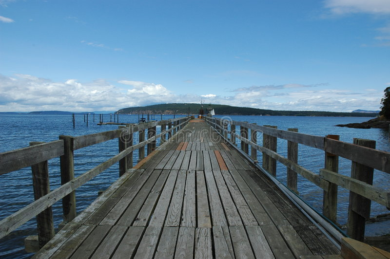 Long Wooden Pier stock images