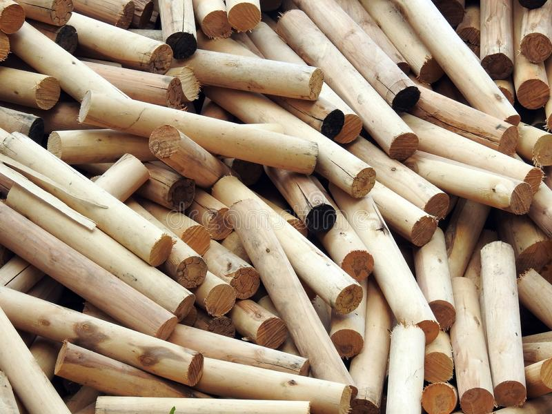 Long wood pieces , Lithuania royalty free stock photos
