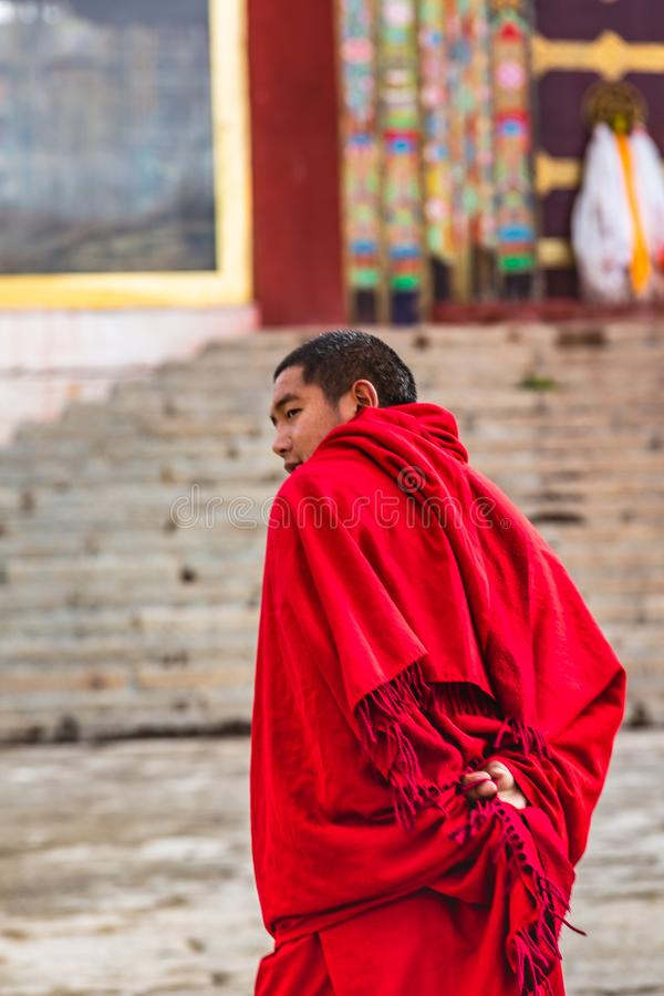 Long Youth Cole Temple in Litang County, China royalty free stock photography