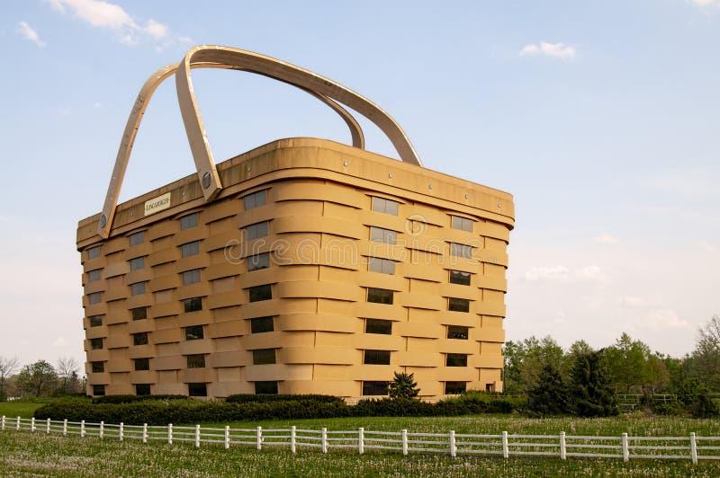 Longaberger-Picknick-Korbgebäude lizenzfreie stockfotografie