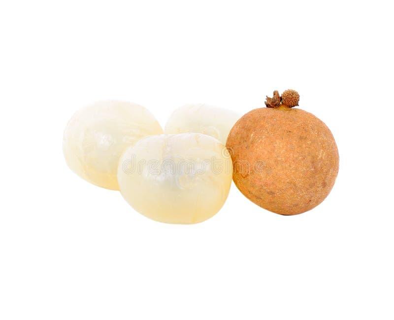 Longan, Azjatycka owoc odizolowywająca fotografia stock