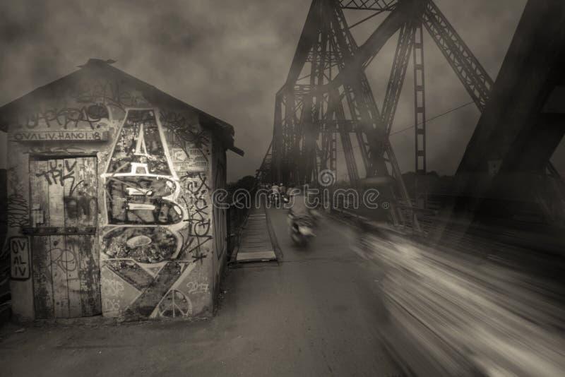 Longbienbrug stock foto