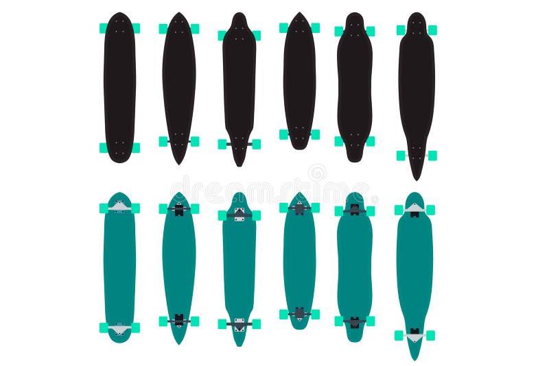 Longboard fotografia stock