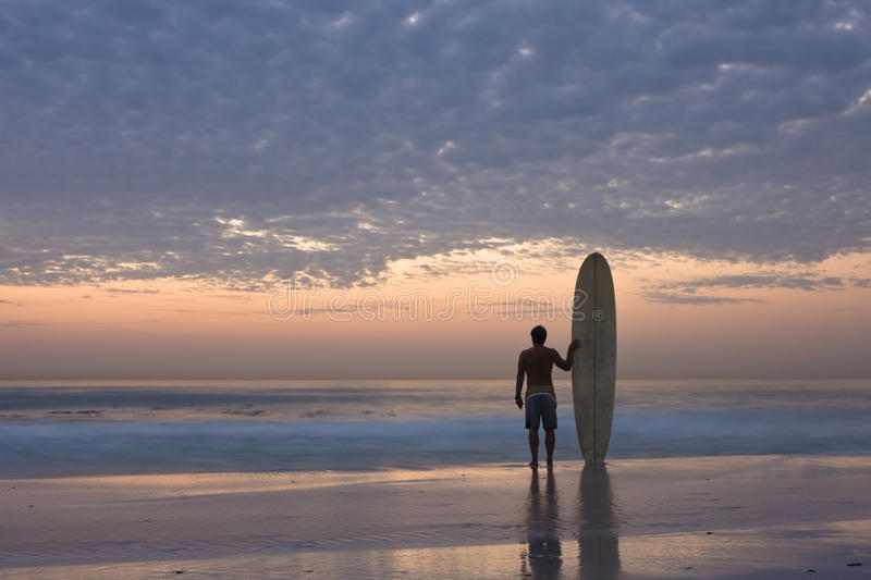Longboard Surfer Royalty Free Stock Images