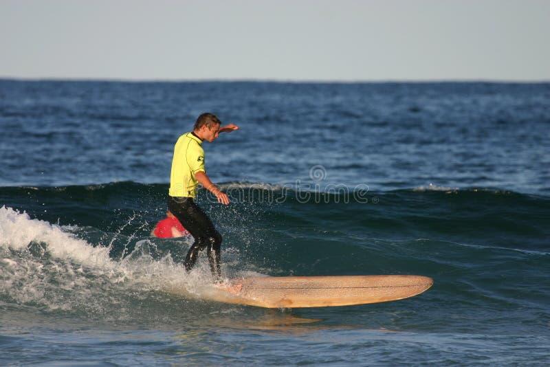 longboarder żółty zdjęcie stock