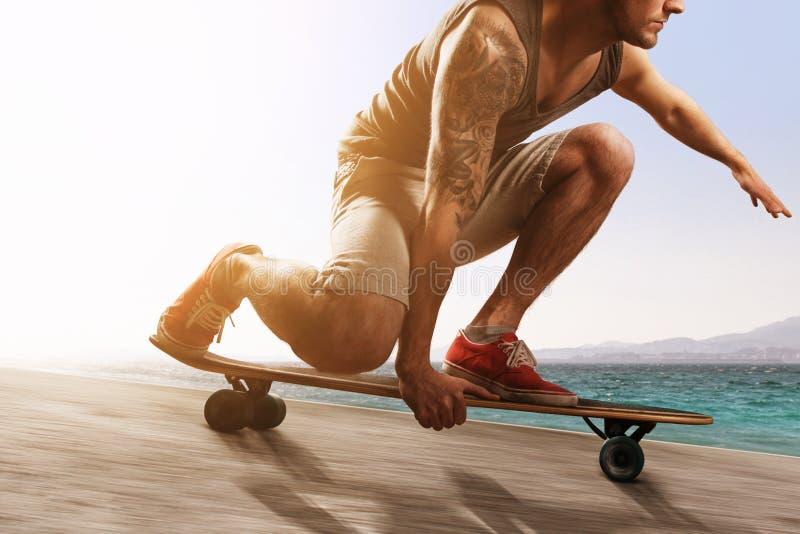 Longboarder arkivbild