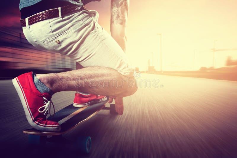Longboarder royaltyfri foto