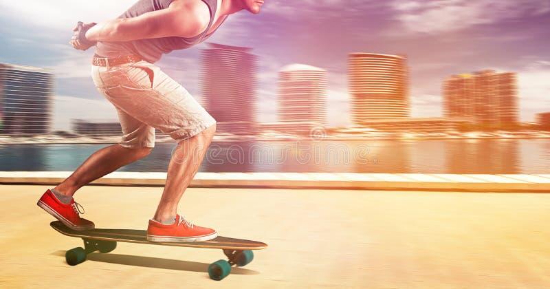 Longboarder fotografie stock