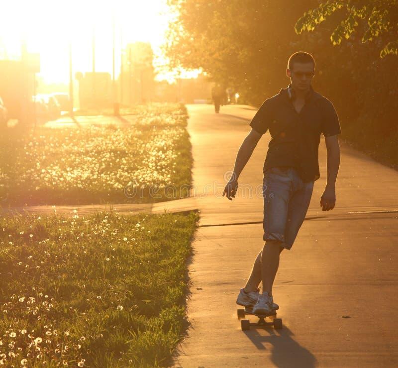 Longboardist στοκ εικόνες