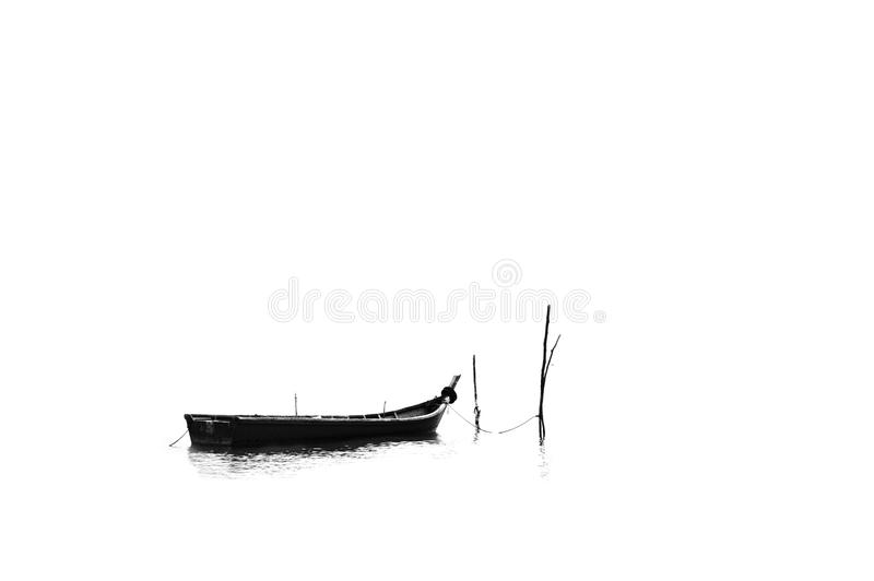 A Longboat On The Seashore 2 Stock Image