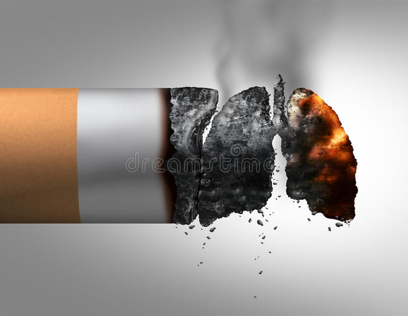 Longen en het Roken vector illustratie