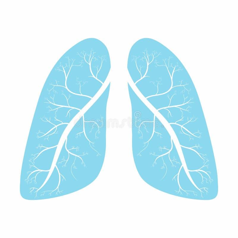 longen Het menselijke symbool van de longenanatomie royalty-vrije illustratie