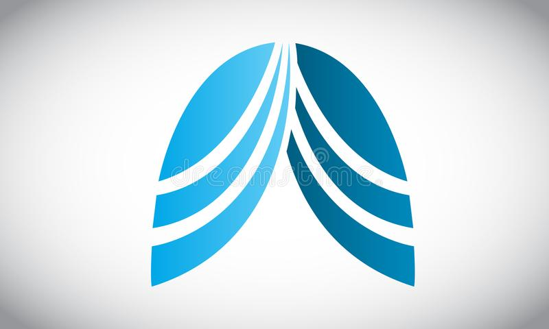 Longen Logo Icon royalty-vrije illustratie