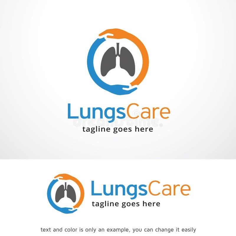 Longenzorg Logo Template Design Vector, Embleem, Ontwerpconcept, Creatief Symbool, Pictogram stock illustratie