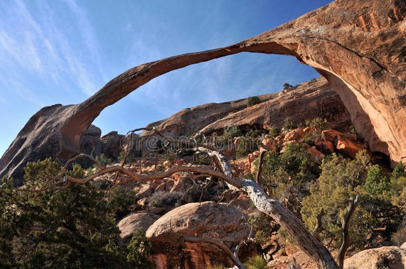 Landscape Arch, Arches National Park, Utah, USA royalty free stock images