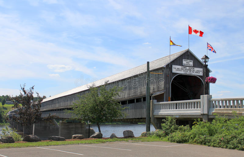 The longest covered bridge in the world royalty free stock image