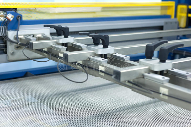 Longest line on the surface, mechanical. Machine part royalty free stock photo