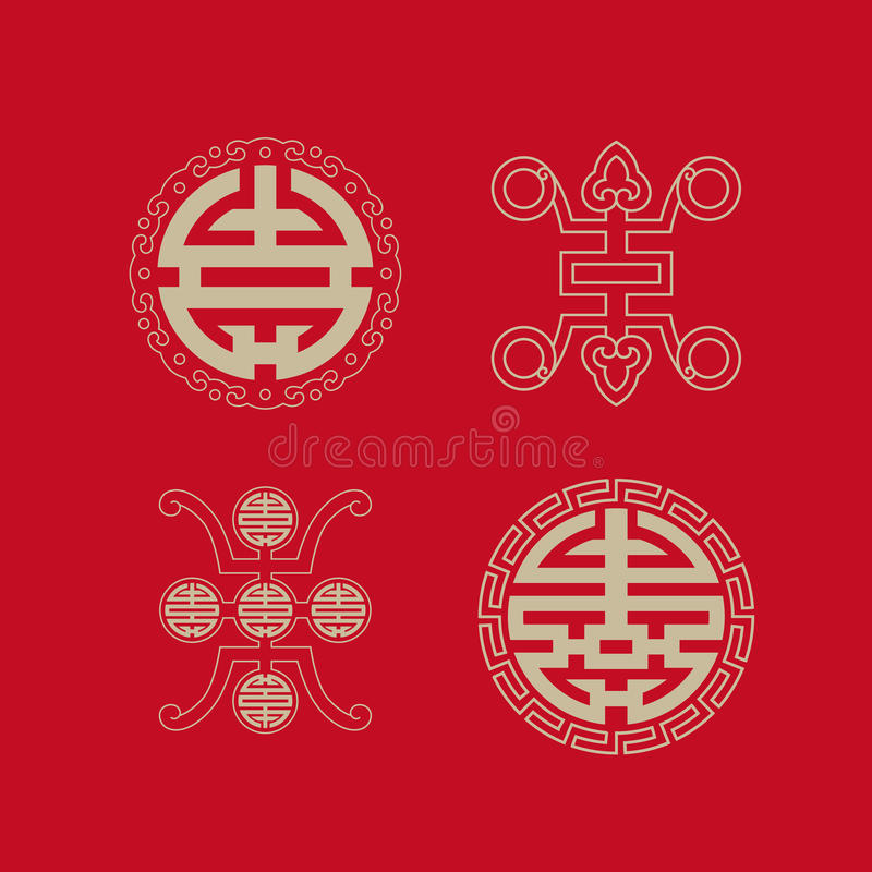 Download Longevity Symbols Collection Stock Vector - Illustration of long, lunar: 34842060