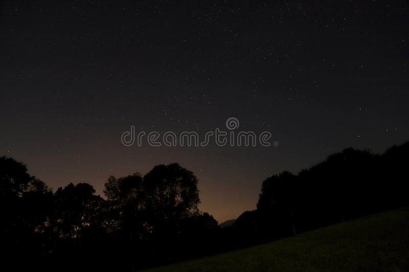 Longexposure. Night stars France stock images