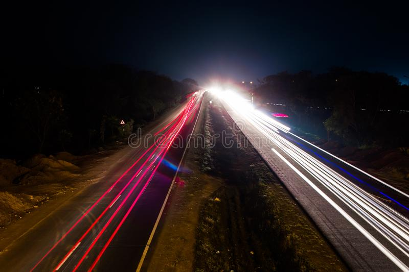 Longexposure. Longexposure shoot highway capture road night royalty free stock photography