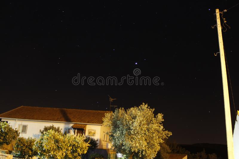 Stars. LongExposure of the sky in Alcaria, Portugal stock photos