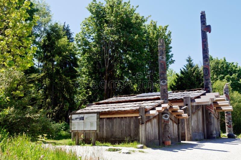 Longhouses stock photo