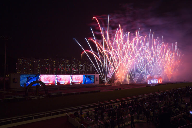LONGINES Hong Kong zawody międzynarodowe Ściga się 2012 obrazy royalty free