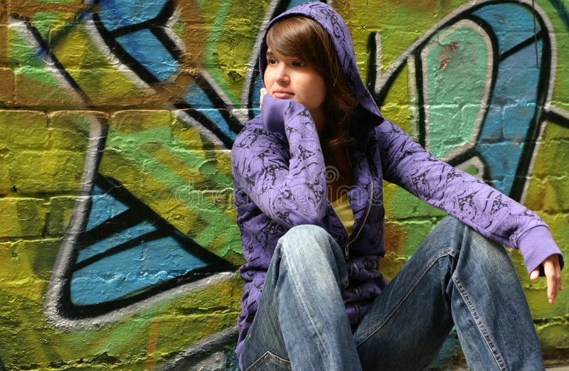 Download Longing stock image. Image of pullover, graffiti, holding - 4329509