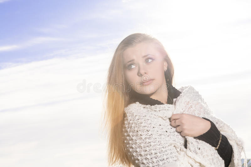 Download Longing Caucasian Woman stock photo. Image of blond, cute - 36499964
