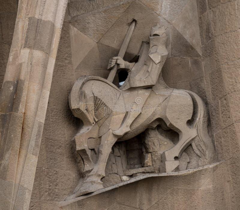 Longinus die de kant van Christus doordringt ` s stock afbeeldingen