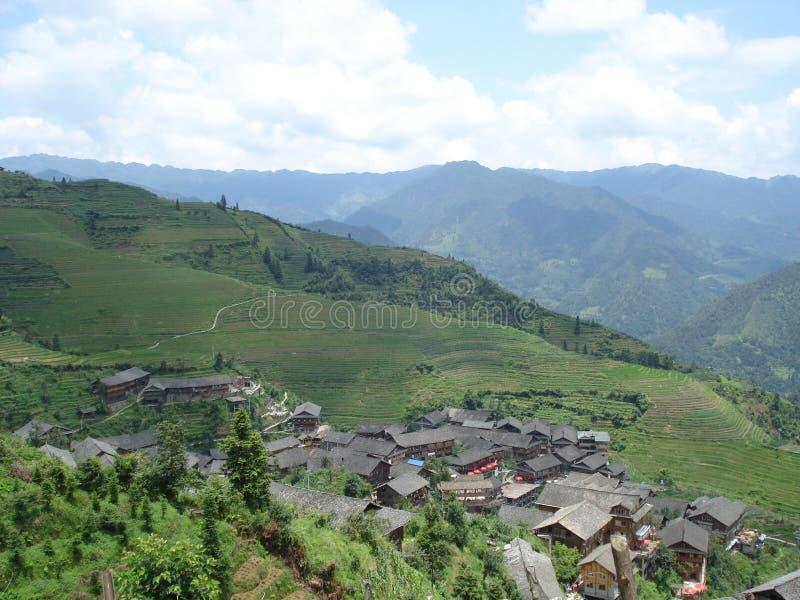 Longji Longsheng Хунань Китай Wengjia полей риса террасное стоковые изображения rf