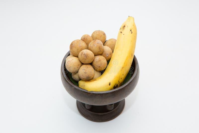 Longkong e banana fotografie stock libere da diritti