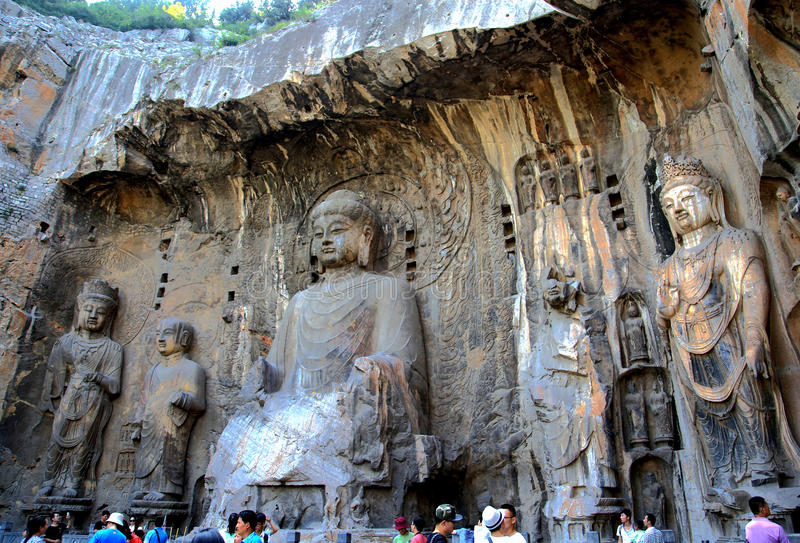 Longmen Caves, Dragon Gate Grottoes, in Luoyang city stock photography