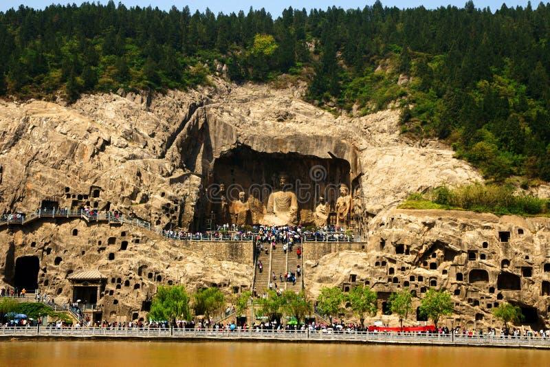 Longmen Grotten stockfotografie