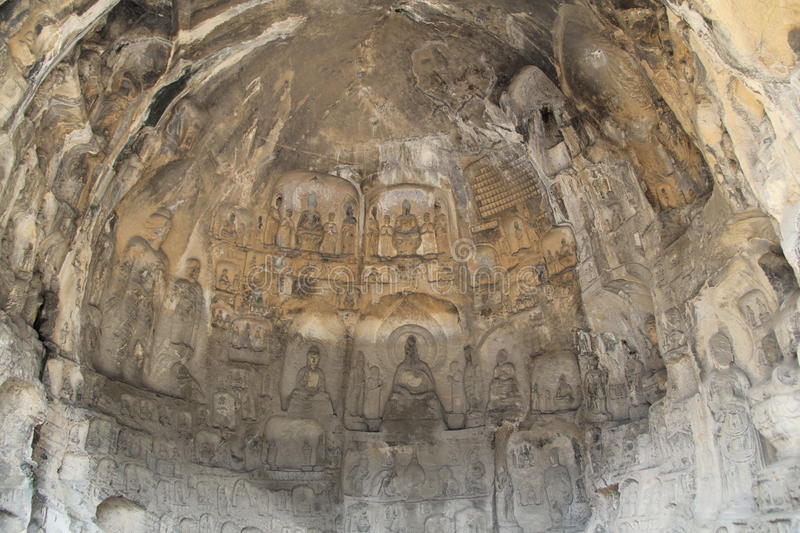 Longmen Grottoes in Luoyang, Henan province, China Park. Longmen Grottoes is one of the world cultural heritage, is one of the treasure-house of Chinese stone royalty free stock image