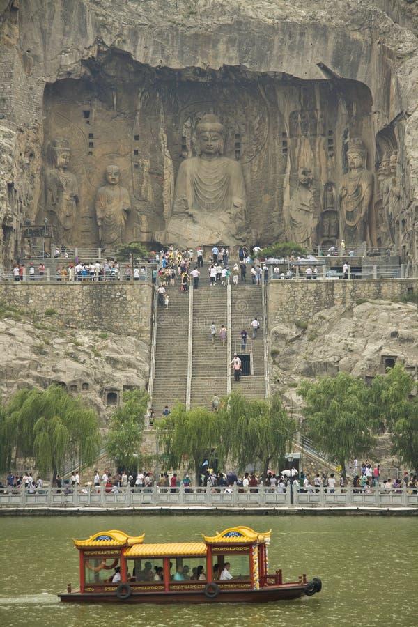 Longmen grottoes luoyang hunan china royalty free stock photography
