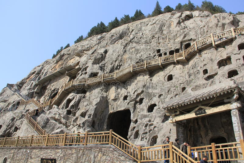 Longmen grottor royaltyfria foton
