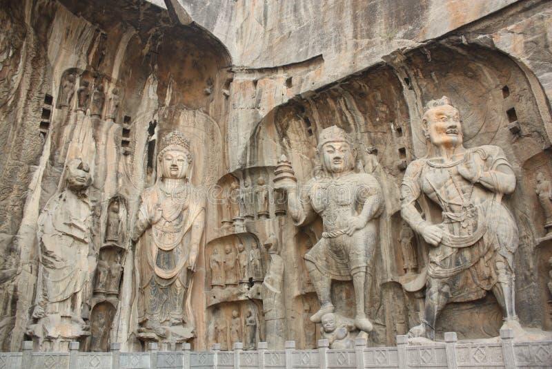 Longmen Höhlen in Luoyang lizenzfreies stockbild
