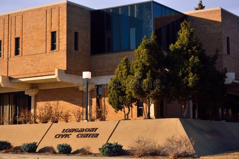 Longmont, κτήριο πολιτικού κέντρου του Κολοράντο/κυβέρνησης του Δημαρχείου στοκ φωτογραφίες