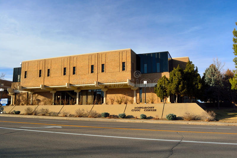 Longmont, centro cívico de Colorado/cidade Hall Government Building fotos de stock royalty free