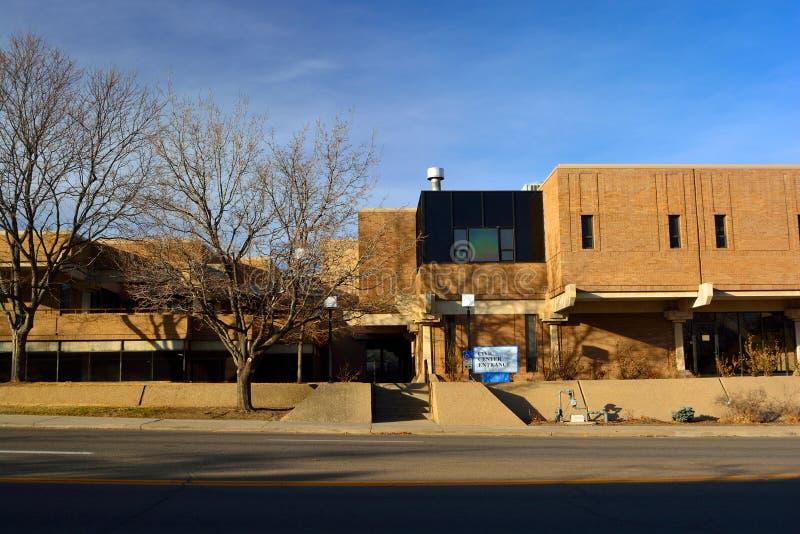 Longmont, het Openbare Centrum van Colorado/Stad Hall Government Building royalty-vrije stock afbeeldingen