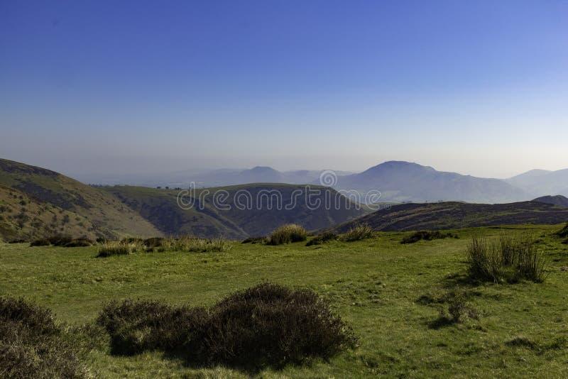 Longmynd Burway kullekyrka Stretton Shropshire arkivbild