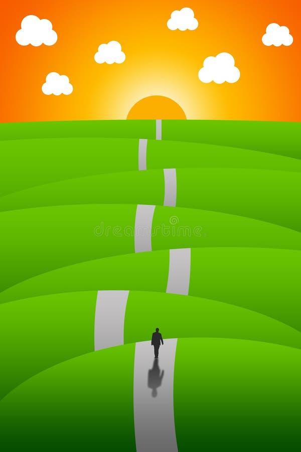 Longo caminho ilustração royalty free