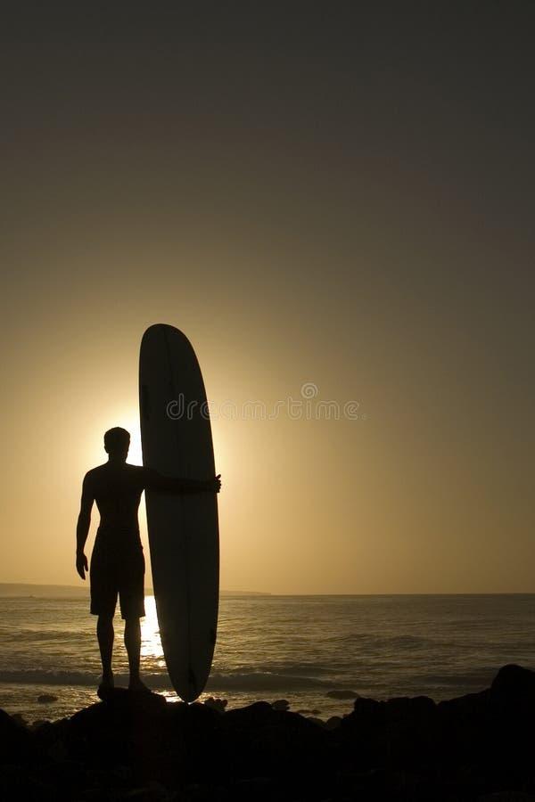 Longoard au coucher du soleil 3 image libre de droits