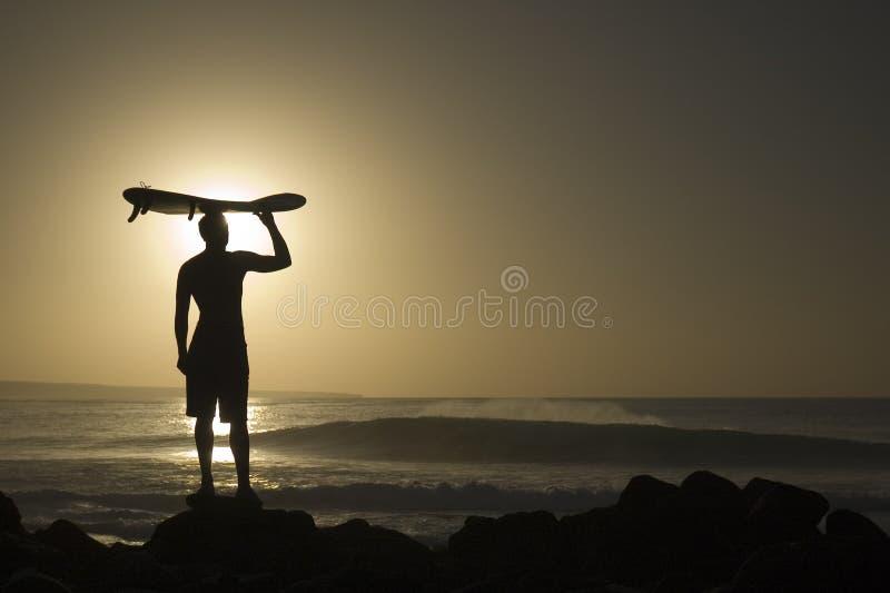 Longoard bij zonsondergang 4 stock foto