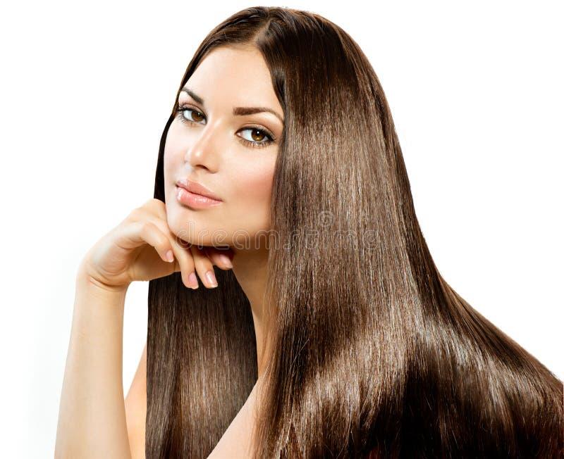 Longs cheveux droits photos libres de droits