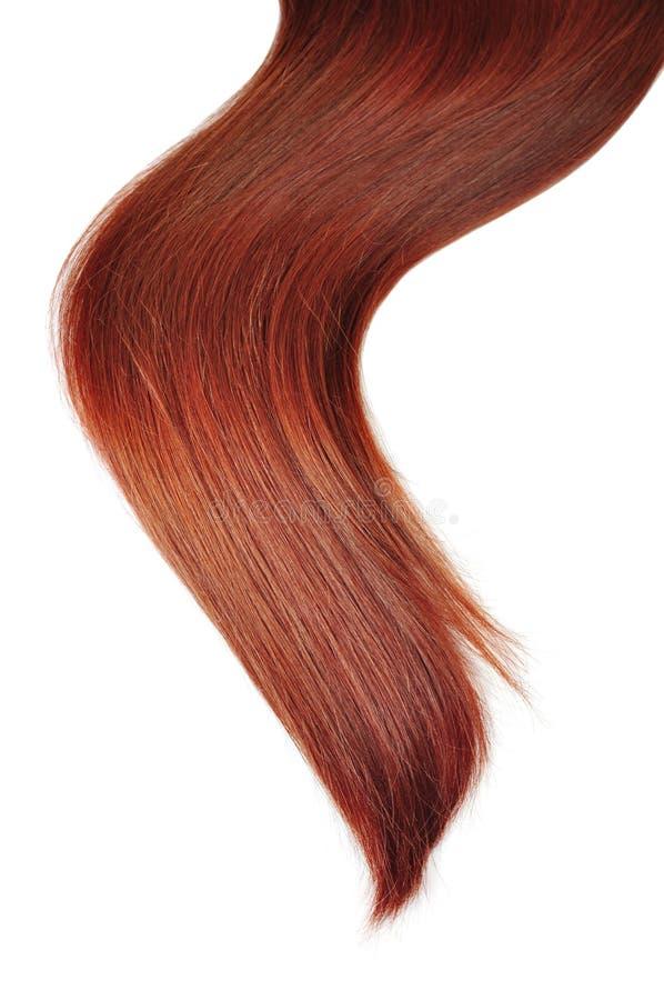 Longs cheveux rouges image stock
