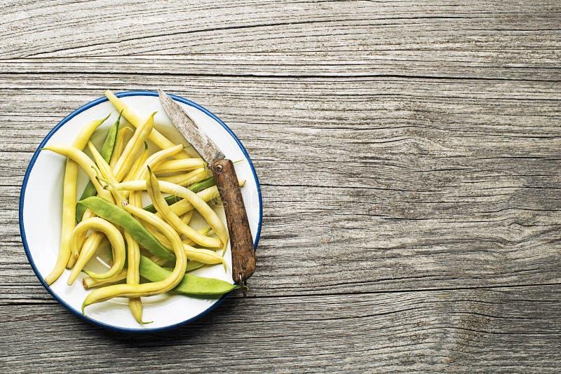 Longs haricots jaunes photo stock