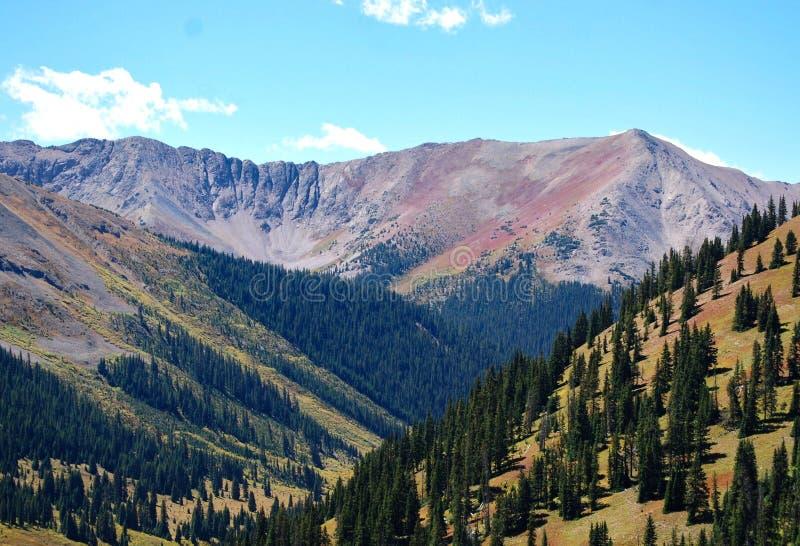 Longs maximalt som beskådas från Estes Park, Colorado, USA arkivbild